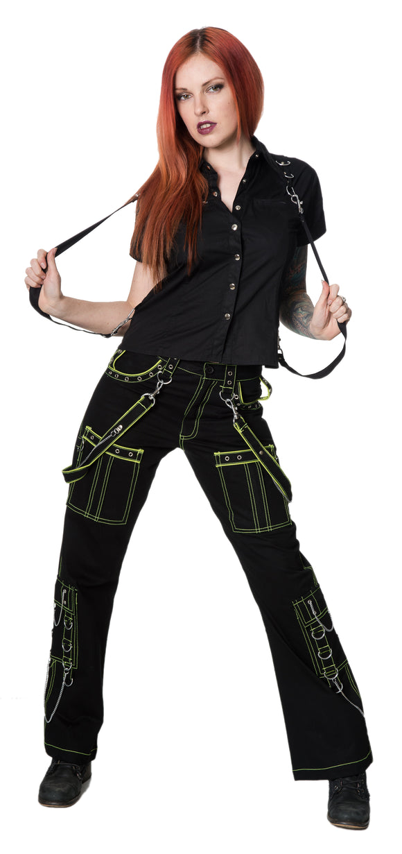 Dead Threads - Four Pockets Neon Yellow Women's Trousers