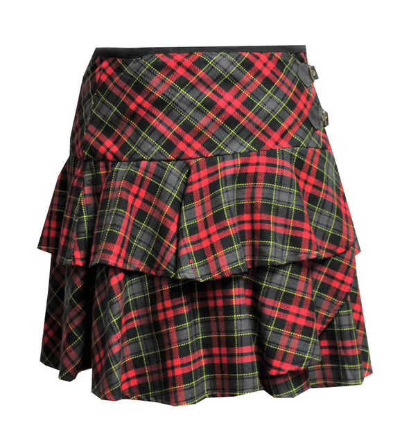Dead Threads - Green and Red Tartan Plaid Skirt