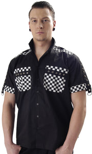 Dead Threads - Men's Black and White Squares Polo