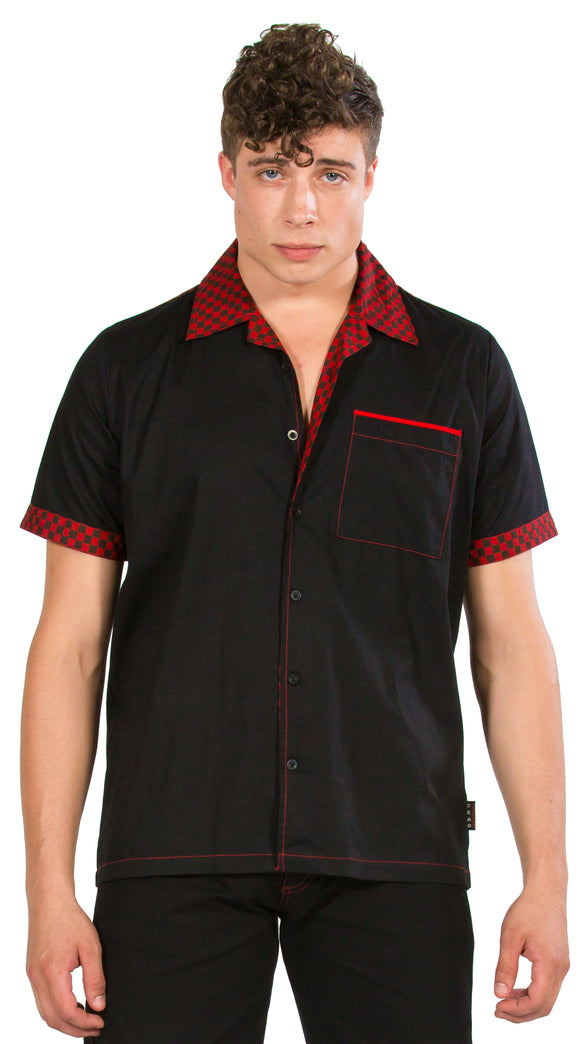 Dead Threads - Men's Black with Red Accent Polo
