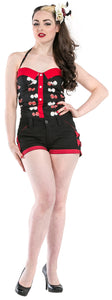 Dead Threads - Women's Black and Red Shorts