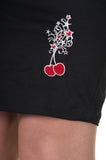 Dead Threads - Women's Black Skirt with Cherry Design