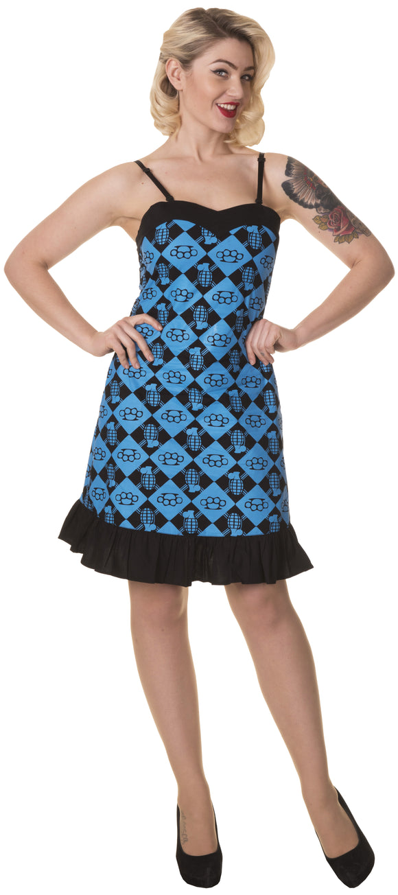 Dead Threads - Women's Black and Blue Dress