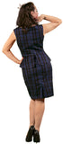 Dead Threads - Women's Black and Blue Square Design Dress
