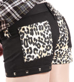 Dead Threads - Women's Black and Leopard Shorts