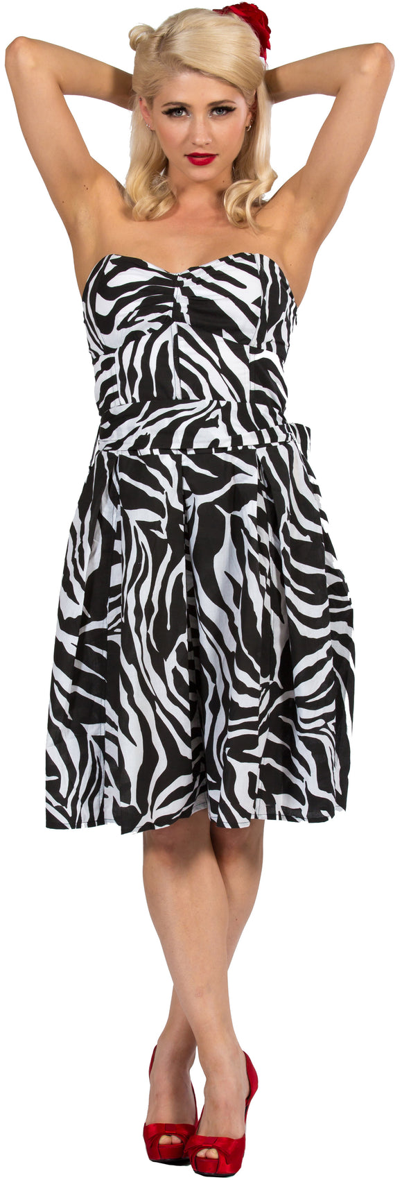 Dead Threads - Women's Black and White Zebra Sexy Dress