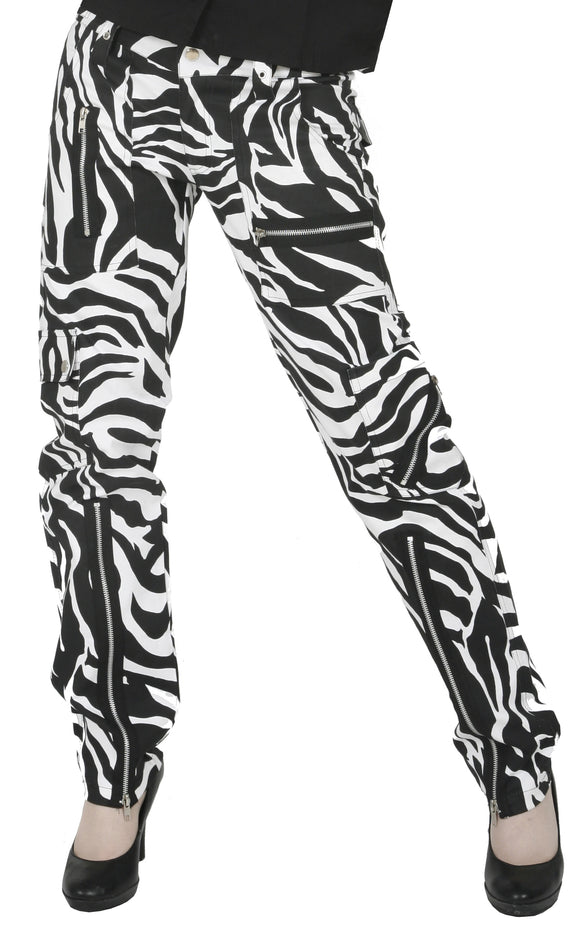 Dead Threads - Women's Black and White Zebra Trousers