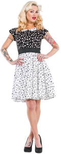 Dead Threads - Women's Black with Skulls and Bones Dress