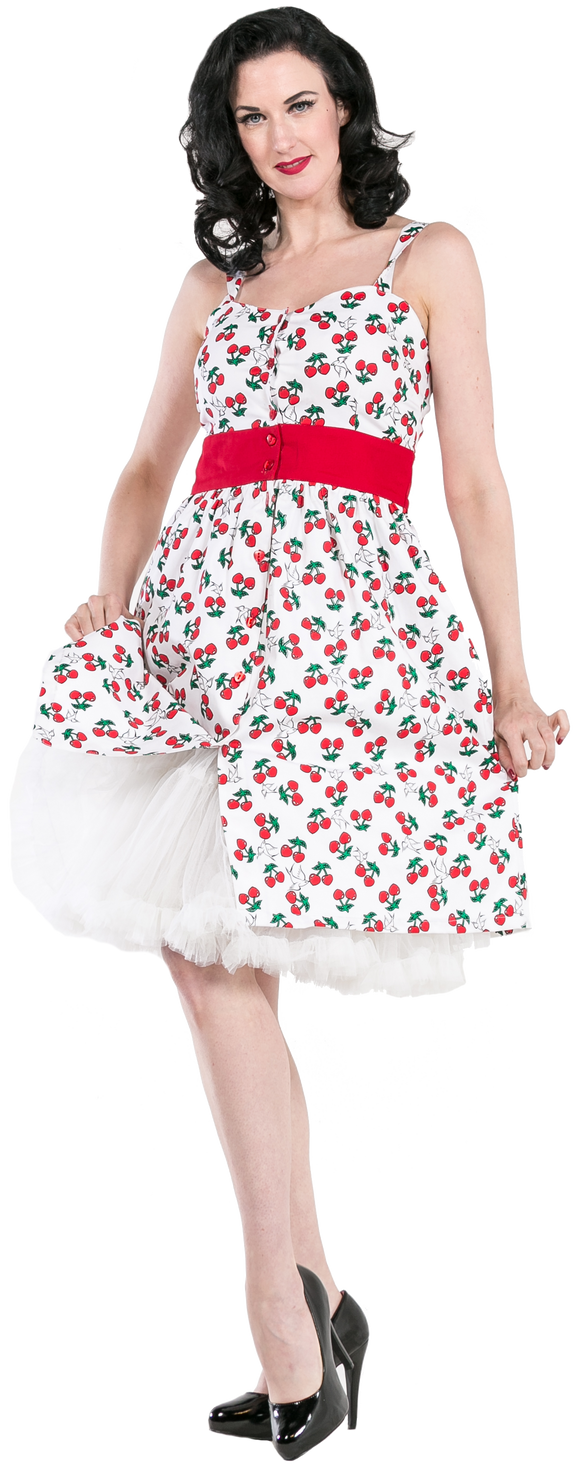 Dead Threads - Women's Cherry White Dress