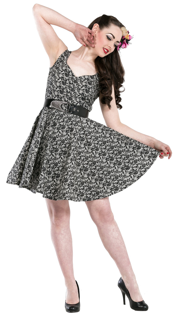 Dead Threads - Women's Grey Floral Dress