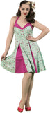 Dead Threads - Women's Light Green and Pink Dress