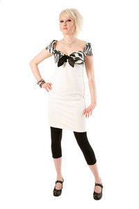 Dead Threads - Women's White Dress with Zebra Design