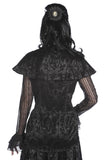 Banned Clothing - Black Lace Satin Corset Shirt - Egg n Chips London