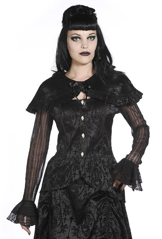 Banned Clothing - Black Lace Satin Corset Shirt