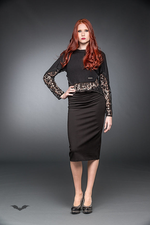 Queen of Darkness - Elegant Pencil-Skirt