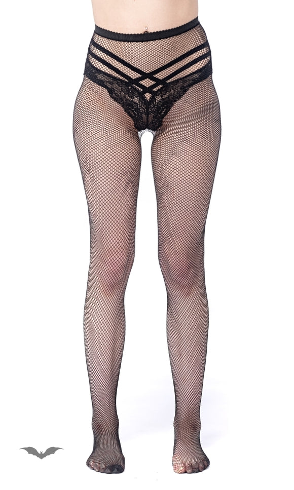 Queen of Darkness - Fish-Net stockings with small net