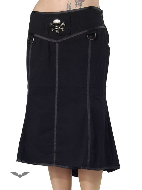 Queen of Darkness - Form fitting knee length skirt