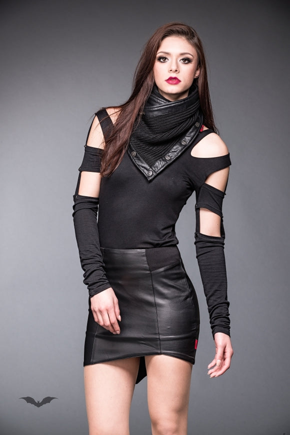 Queen of Darkness - Form fitting leather-look skirt