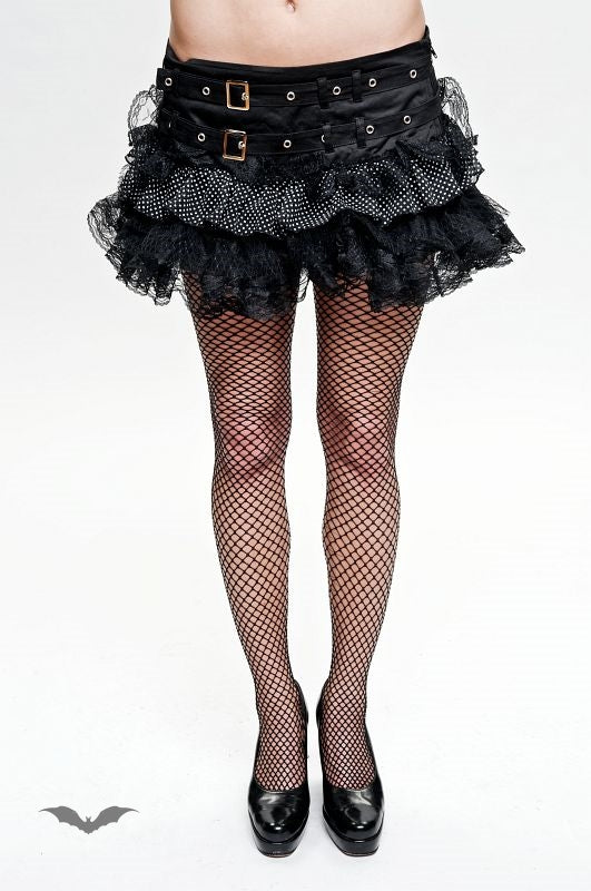 Queen of Darkness - Frilly skirt with lace &polka dots