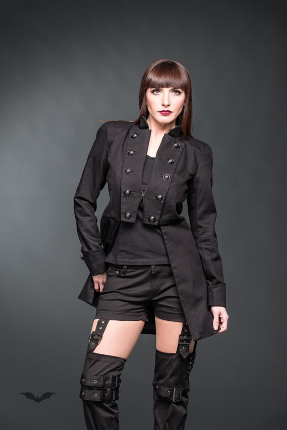 Queen of Darkness - Frock coat with black buttons