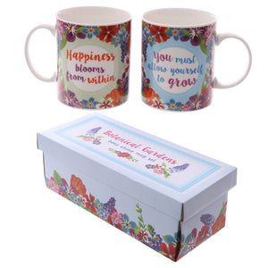 Egg n Chips London - Fun New Bone China Mug - Botanical Set of 2 - Egg n Chips London