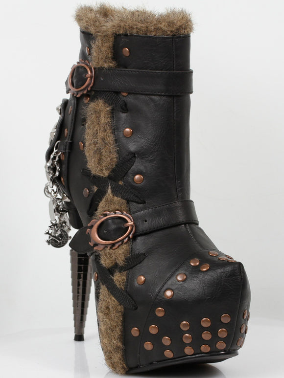 Hades Shoes - Griffin Steampunk Booties - Egg n Chips London
