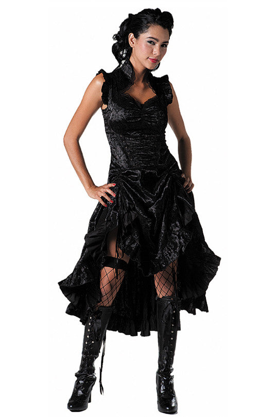 Jawbreaker Clothing - Gothic Velvet Dress - Egg n Chips London
