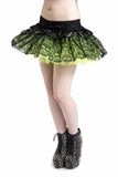 Jawbreaker Clothing - Green Mini layered Ghoul Tutu - Egg n Chips London