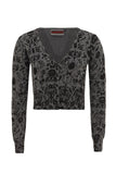 Jawbreaker Clothing - Grey Skull Stamp Cardigan - Egg n Chips London