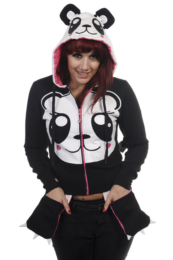Banned Clothing - Panda Face Hoodie - Egg n Chips London