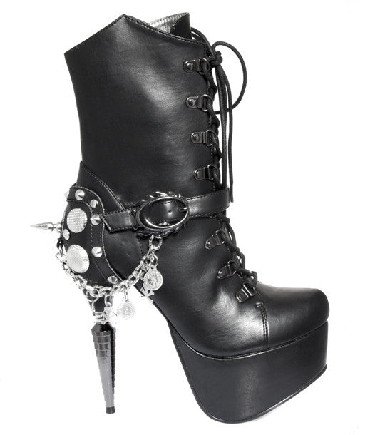 Hades Shoes - Envy Rhino Collection Heel with Chrome Hearts Chain Accent - Egg n Chips London