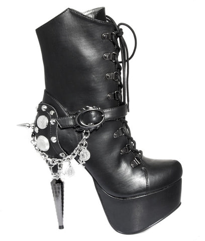 Hades Shoes - Envy Rhino Collection Heel with Chrome Hearts Chain Accent