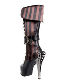 Hades Shoes - Ethereal Beautiful Victorian Knee High Boots - Egg n Chips London