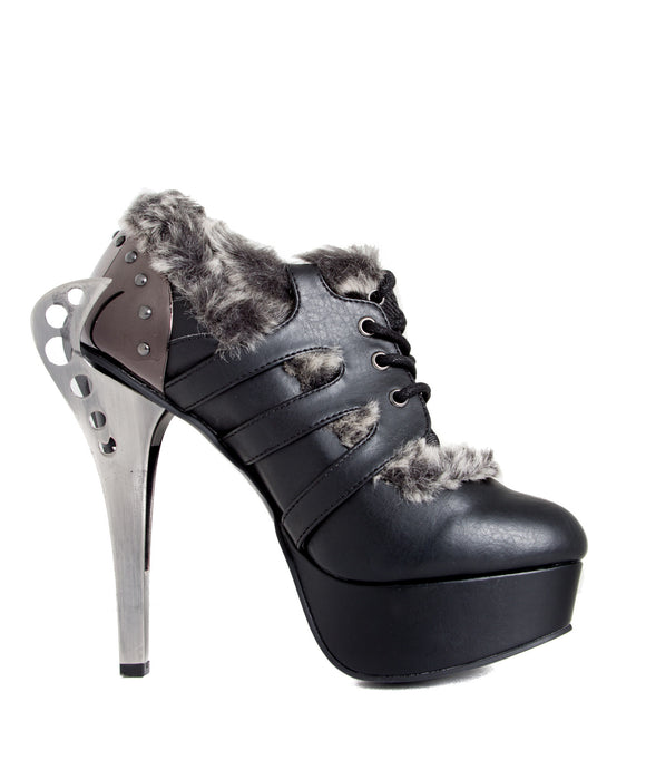 Hades Shoes - Monarch Steampunk Flame Buckles Shoes - Egg n Chips London