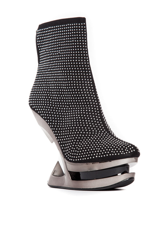Hades Shoes - Monroe Elegantly Studded Iceberg Wedge Heels - Egg n Chips London