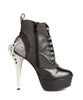 Hades Shoes - Nemo Steampunk Double Metal Heel with Flame Buckles