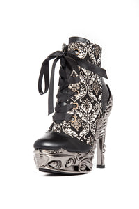 Hades Shoes - Rena Renaissance Embroidered Boots - Egg n Chips London