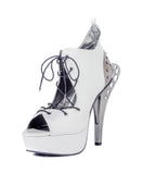 Hades Shoes - Stellar Open Toe Sandal with Adjustable Front Laces