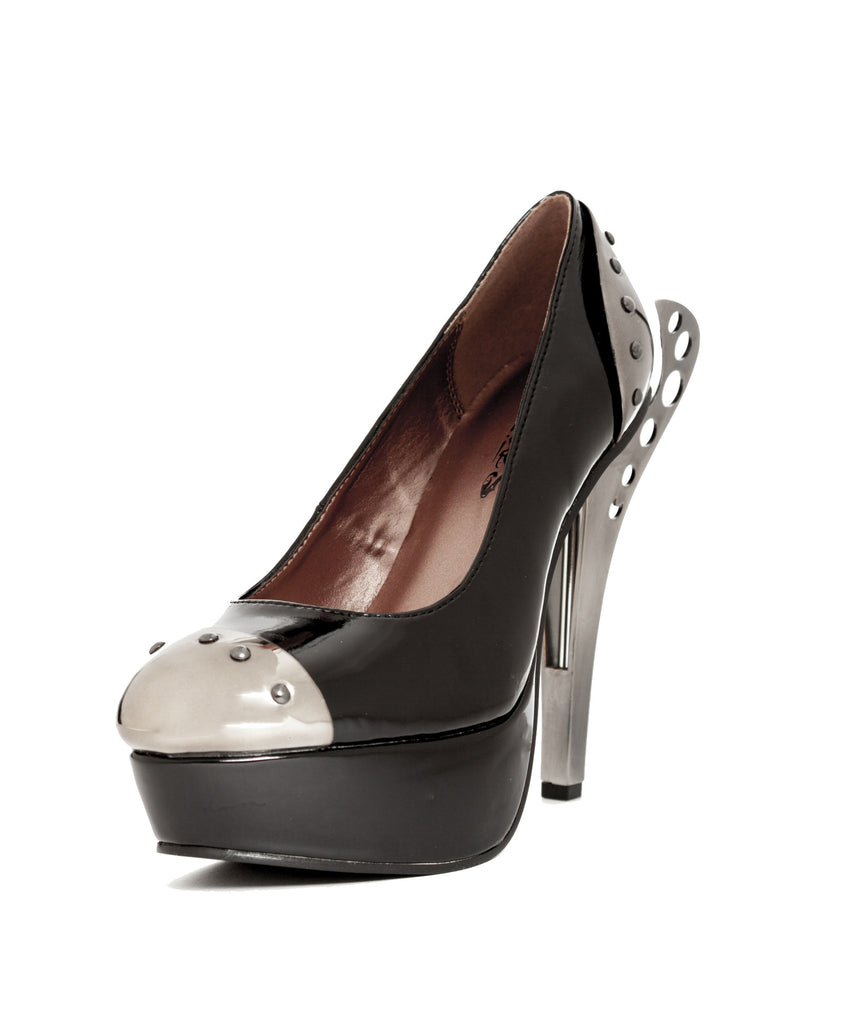 Hades Shoes - Tower Steampunk Inspired Double Metal Heel Platform