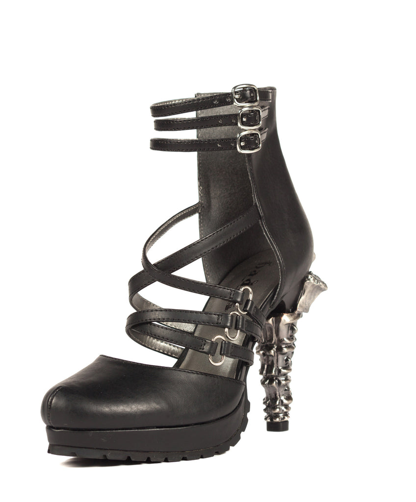 Hades Shoes - Verne Goth Inspired Prehistoric Claw Heel