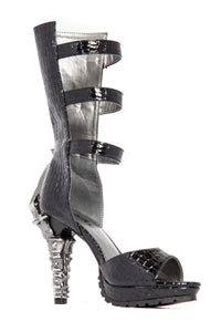 Hades Shoes - Aria Leather Platform with Buckle Strap Design - Egg n Chips London