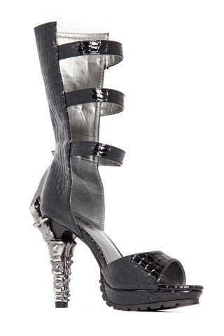 Hades Shoes - Aria Leather Platform with Buckle Strap Design