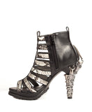 Hades Shoes - Leora Fashion Mixed with Goth Inspired Heels - Egg n Chips London