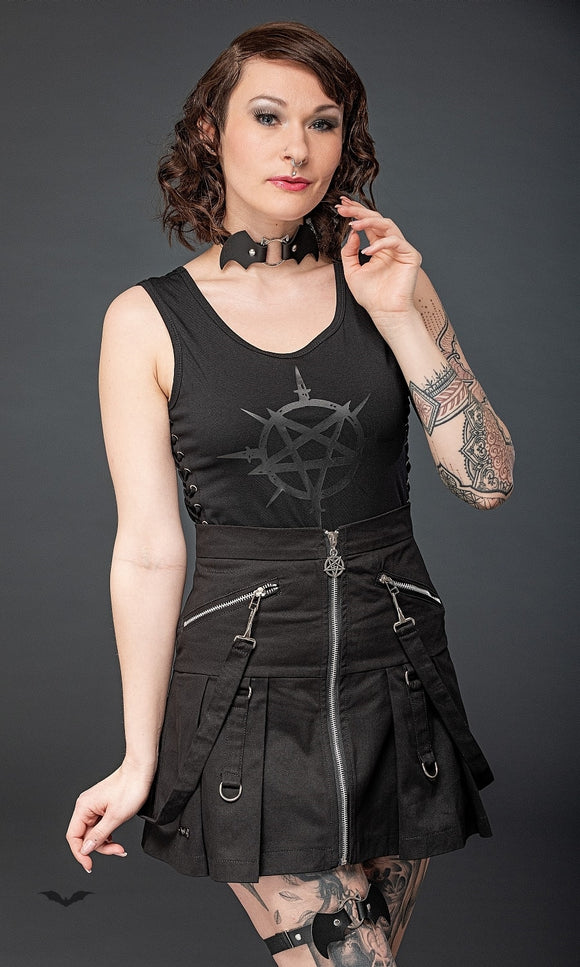 Queen of Darkness - High Waist skirt with removable bondage
