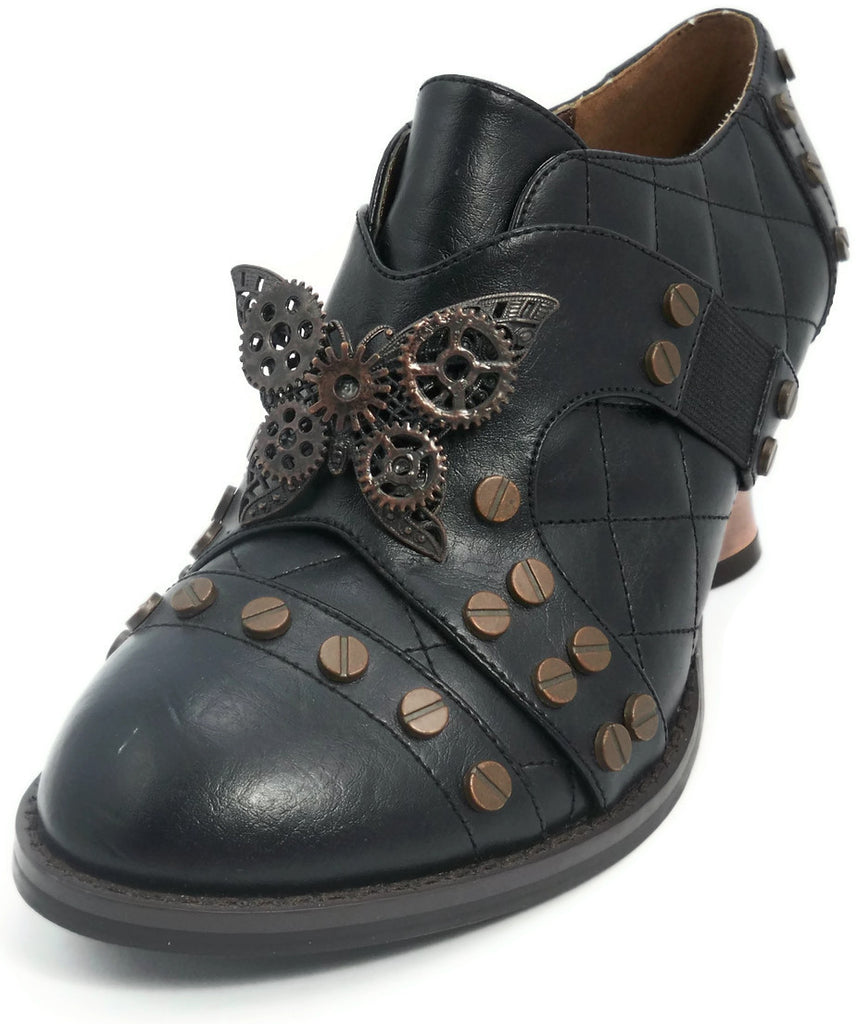 Hades Shoes - Black Icon Steampunk Shoes
