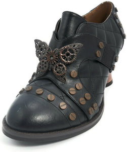 Hades Shoes - Black Icon Steampunk Shoes - Egg n Chips London