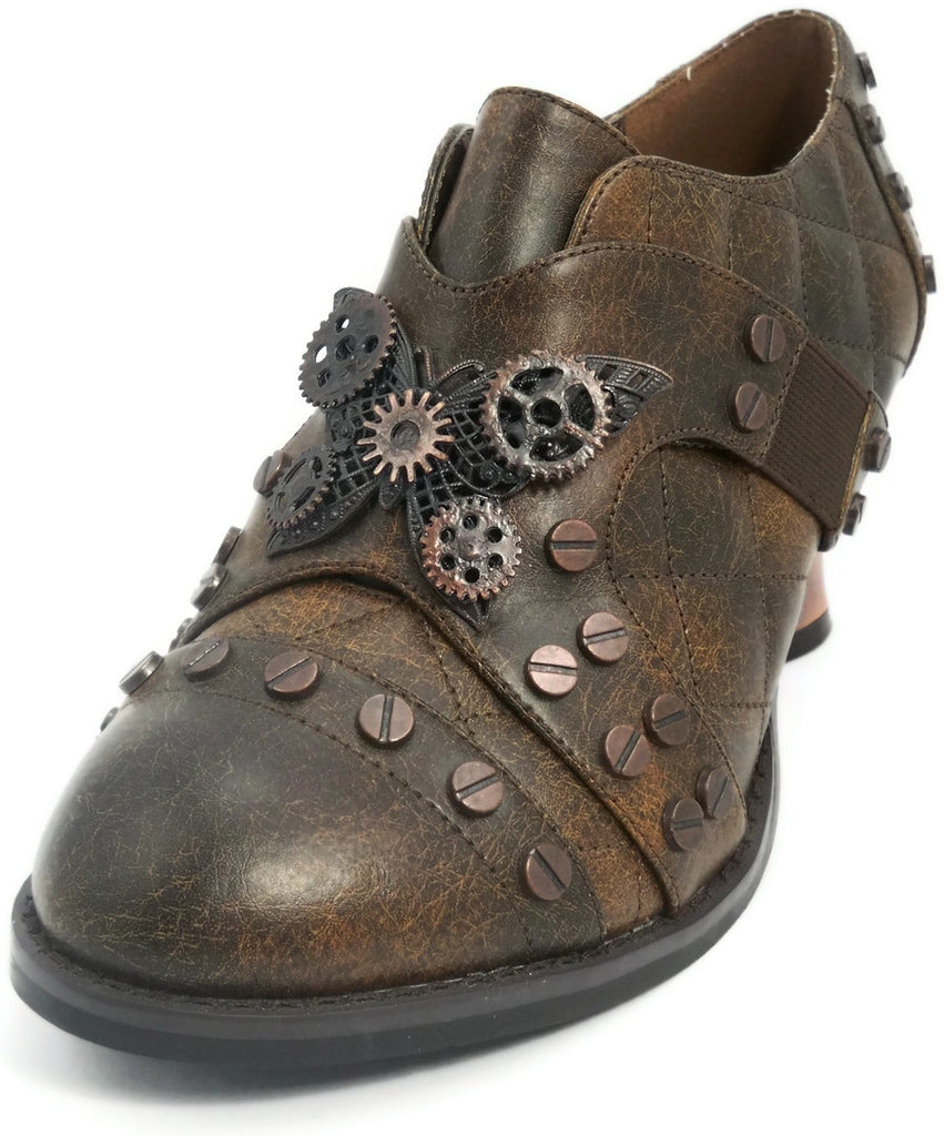 Hades Shoes - Icon Brown Steampunk Shoes - Egg n Chips London