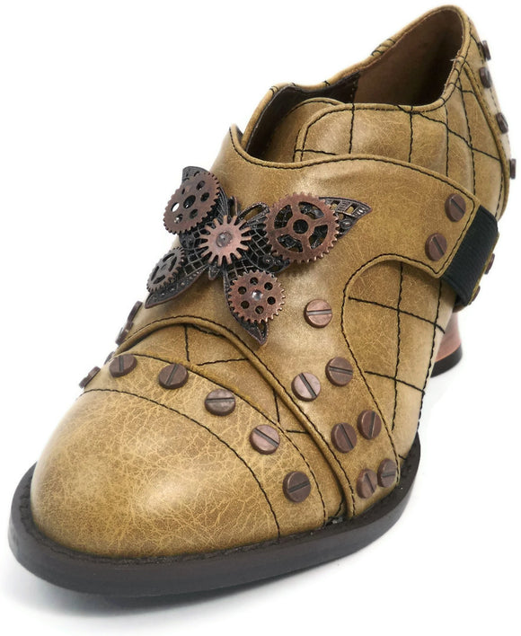 Hades Shoes - Icon Mustard Steampunk Shoes - Egg n Chips London