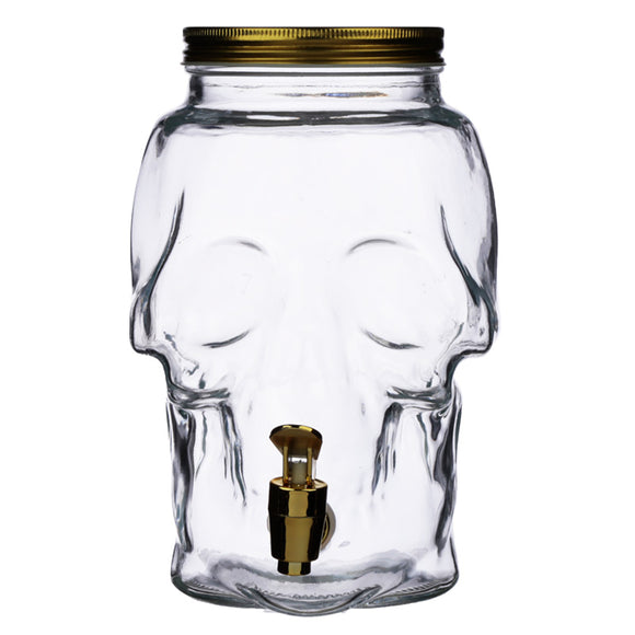 Skull Shaped Water Decanter 2.6L - Skulls & Roses JAR77