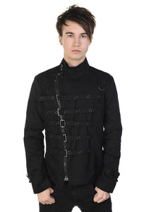 Banned Clothing - Black Metal Cuff Jacket - Egg n Chips London